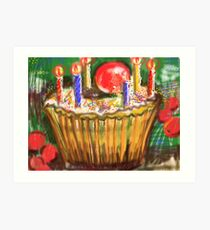 Cup Cake for a birthday Art Print