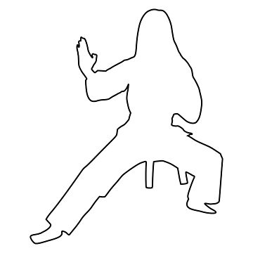 Karateka silhouette by hasseroberto
