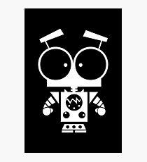 Cute Robot 8 White Photographic Print