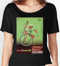 CYCLO-CROSS; Vintage Bicycle Racing Print Women's Relaxed Fit T-Shirt