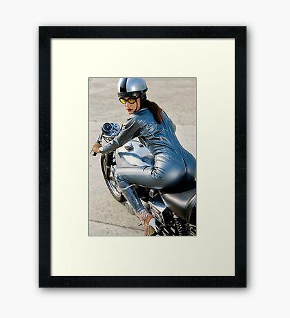 Follow me! If you can! Framed Print
