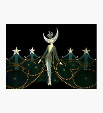 """Art Deco Design by Erte """"Queen of the Night"""" Photographic Print"""