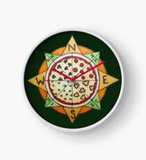 Pizza Compass Clock