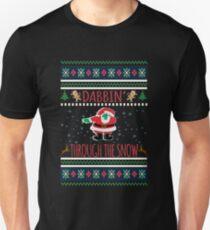 Dabbin Through The Snow Santa Ugly Christmas Sweater T-Shirt  T-Shirt