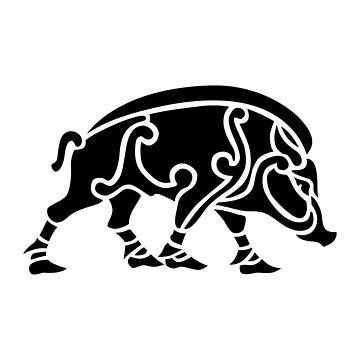 Norse Style Boar by s3w4g3