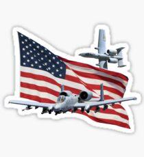 US Flag Aith A10's Sticker