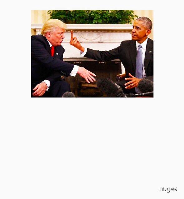 Obama gives Trump The Finger by nuges
