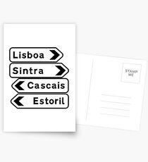 Lisboa-Sintra-Cascais-Estoril, Road Signs, Portugal Postcards