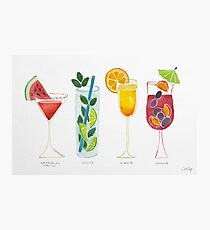 Summer Cocktails Photographic Print
