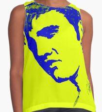 Blue Elvis Presley by Pasha du Valentine Contrast Tank