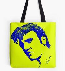 Blue Elvis Presley by Pasha du Valentine Tote Bag