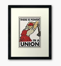 There Is Power in a Union (Vector Recreation) Framed Print