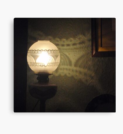 Lovely Lamp, Pretty Pattern Canvas Print