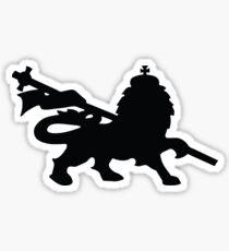 rasta lion judah dub Sticker