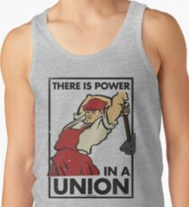 There Is Power in a Union (Vector Recreation) Tank Top