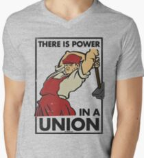 There Is Power in a Union (Vector Recreation) Men's V-Neck T-Shirt