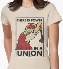 There Is Power in a Union (Vector Recreation) Women's Fitted T-Shirt