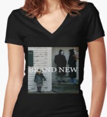 Brand New textured album art logo Women's Fitted V-Neck T-Shirt