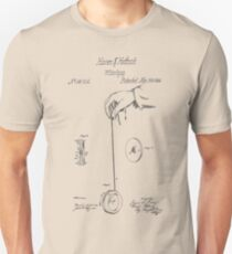 Vintage Yoyo Patent Drawing From 1866 Unisex T-Shirt