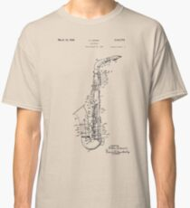 Saxophone Patent Drawing From 1933 Classic T-Shirt