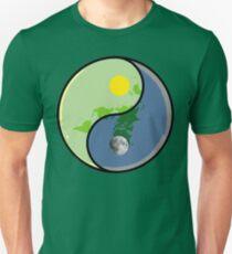 Flat Earth YIN Sun YANG Moon Unisex T-Shirt