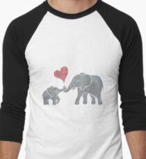 Elephant Hugs Baseballshirt mit 3/4-Arm