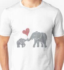 Camiseta unisex Abrazos de elefante