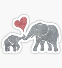 Elephant Hugs Sticker