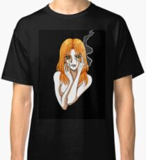 Claudia smoking - Girl with a cigarette Classic T-Shirt