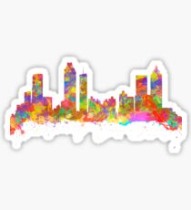 Watercolor art print of the skyline of Atlanta Georgia USA Sticker