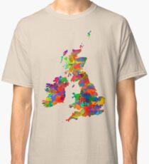 Great Britain Watercolor Map Classic T-Shirt