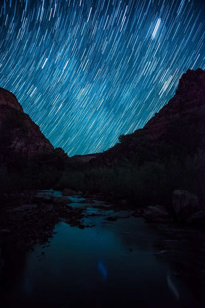 Star Trails Over Kolob Canyon by Nathan Gross