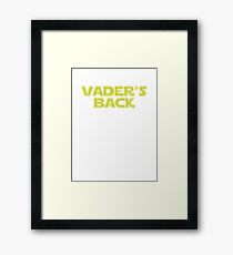 Star Wars Vader's Back Framed Print