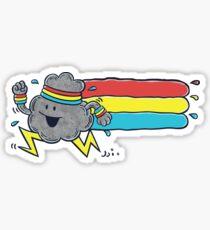 Cloud Runner Sticker