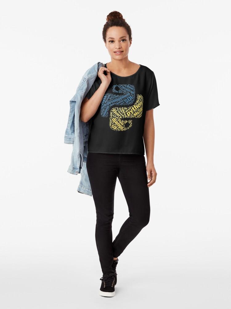 Vista alternativa de Blusa Camiseta y sudadera con capucha de Python Programmer