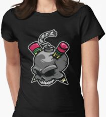 Create or Destroy Logo Women's Fitted T-Shirt