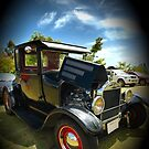 Ford Model A Hot Rod on black by Matthew Larsen