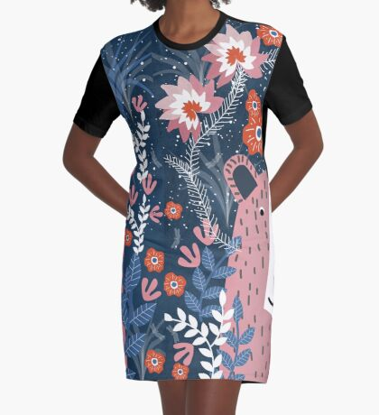 Bear Garden Graphic T-Shirt Dress