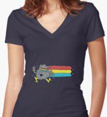 Cloud Runner Women's Fitted V-Neck T-Shirt