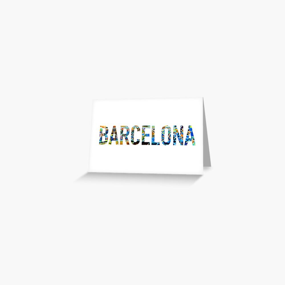 Etiqueta engomada del parque Guell de Barcelona Tarjetas de felicitación