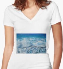 Sea Three Women's Fitted V-Neck T-Shirt