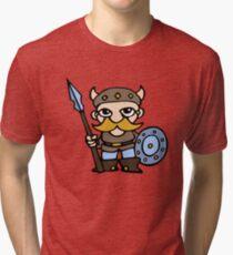 viking cartoon warrior Tri-blend T-Shirt