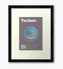 Lámina enmarcada Techno