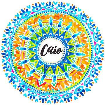 Caio! Watercolor Mandala by aterkaderk