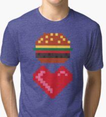8-Bit-Burger-Liebe Vintage T-Shirt