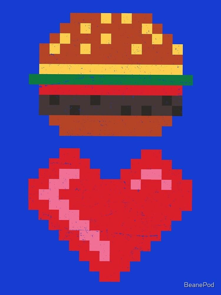 8-BIT BURGER LOVE by BeanePod