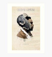 Childish Gambino Droplet Art Print