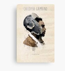Childish Gambino Droplet Canvas Print