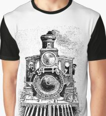 Vintage Locomotive Train - Front Facing Graphic T-Shirt