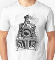 Vintage Locomotive Train - Front Facing Unisex T-Shirt